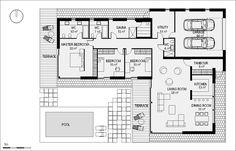Entree van de woning aan de zijkant door het iets verbreden van de woning met minimale m2 hal.