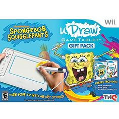 uDraw Game Tablet with SpongeBob Squigglepants and Studio Bundle  Nintendo Wii ** You can get more details by clicking on the image. Note:It is Affiliate Link to Amazon.