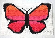 Bernat POP! Butterfly Crochet Graphgan - Part 1 #repeatcrafterme #Bernat #crochet #crochetbutterfly #crochetblanket