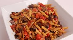 Pennette with Ham and Mushrooms Recipe - Laura Vitale - Laura in the Kit...