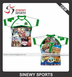 OEM Sublimation top quality rugby polo t shirts /Rugby Jersey /Rugby clothing #rugby_clothing, #Men