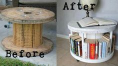 This is a manly spool. And now, it's a manly painted coffee table spool.