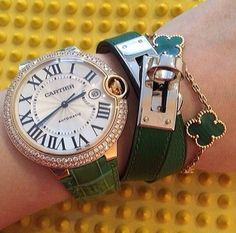 Cartier, hermes, van cleef and arpels - emerald green