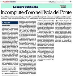 Incompiute d'oro nell'Isola del Ponte   Comitato Pendolari Siciliani