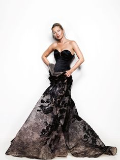 Kate Moss in ELIE SAAB Couture Spring 2013 | Photo by Mario Testino | Vogue UK May 2013