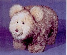 Lambswool Footstool   Honey Bear
