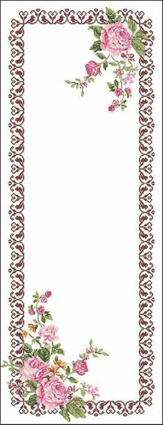 This Pin was discovered by Fil Russian Cross Stitch, Cross Stitch Rose, Cross Stitch Flowers, Cross Stitch Boarders, Cross Stitching, Cross Stitch Embroidery, Rick Rack Flowers, Towel Embroidery, Cross Stitch Pictures