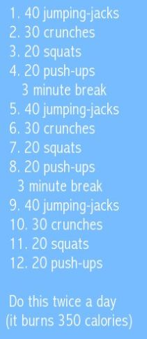 Tried this for days I couldn't get to the gym. I don't know if it actually burns 350 calories, but it works up a sweat.