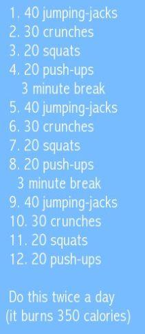 easy quick way to burn 350 Calories