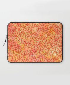 """Autumn foliage"" Laptop Sleeve by Savousepate on Society6 #laptopsleeve #pattern #tangle #leaf #leaves #foliage #nature #autumn #yellow #orange #red"
