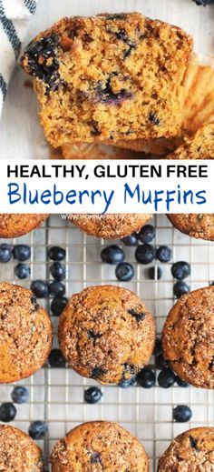 Healthy blueberry muffins made with coconut sugar. Gluten free blueberry muffins with crumb topping are an easy homemade blueberry muffin recipe. The best recipe for moist blueberry muffins made with fresh blueberries. Dairy free blueberry muffins similar to Jordan Marsh blueberry muffins with no refined sugar. Healthy Homemade Snacks, Healthy Muffin Recipes, Healthy Muffins, Healthy Baking, Breakfast Recipes, Sugar Free Blueberry Muffins, Blueberry Crumble Muffins, Blue Berry Muffins, Sugar Free Baking
