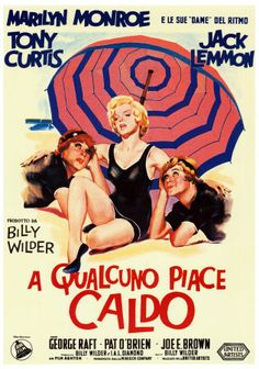 Some Like it Hot Italian Poster