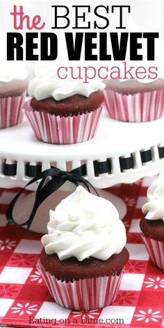 This cupcake recipe is seriously the best red velvet cupcake recipe in the world. This red velvet cupcake recipe is made from scratch and you will love it. Red Velvet Cupcakes, Best Red Velvet Cupcake Recipe, Red Cupcakes, Yummy Cupcakes, Chocolate Cupcakes, Chocolate Desserts, Cupcake Cakes, Cup Cakes, Decadent Chocolate