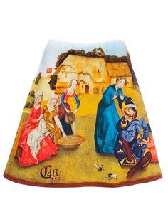 CARVEN Medieval Print Skirt