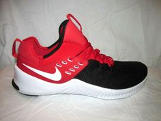 2bf7c862e9d3 Details about Nike FREE X METCON Mens Black Red and white AH8141 600  Training Running Shoes
