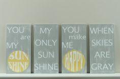 You are my sun shine