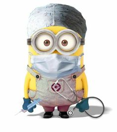 Surgery minion or a surgical technologist to some. Image Minions, Cute Minions, Minions Despicable Me, My Minion, Minions 2014, Minion Smile, Medical Humor, Nurse Humor, Medical Assistant