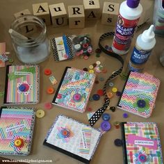DIY with Collage Pauge and create little Mini Friendship Notebooks Crafts For Kids To Make, Craft Activities For Kids, Projects For Kids, Preschool Activities, Creative Kids, Art Journals, Girl Scouts, Notebooks, Decoupage