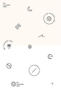 The Essentials Club logo concept icon designs - minimal tropical typography graphic design Essentials Club logo concept icon designs - minimal tropical typography graphic design Icon Design, Inspiration Logo Design, Graphic Design Tips, Graphic Design Typography, Web Design, Minimal Graphic Design, Brand Logo Design, Identity Design, Flat Design