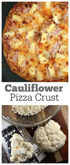 Grate Cauliflower to make an easy PIZZA CRUST- low carb, low fat, gluten free. An acceptable alternative to regular pizza crust for those who are dieting or have intolerance to gluten.