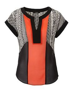 patchwork tunic mixed fabric