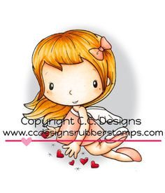 C.C. Designs Swiss Pixie Cupid Rubber Stamp - Click Image to Close