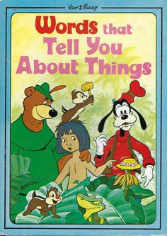 Vintage 1970's Children's Book - Walt Disney - Words That Tell You About Things by 20thCenturyCool on Etsy