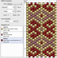 Hello everyone, A simple pattern this week, that doesn't really require more than three different colours :) Basic pattern Colour ve. Peyote Beading Patterns, Peyote Stitch Patterns, Bead Loom Patterns, Beaded Jewelry Patterns, Loom Beading, Beaded Banners, Bead Loom Bracelets, Tear, Beading Tutorials