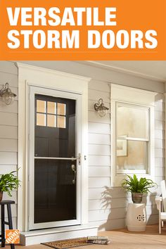 Install a storm door that's prepped for easy assembly. The Andersen 2500 Series Self-Storing storm door brings the outdoors in with a one-hand retractable insect screen for fresh air and sunshine. Weather stripping lines all sides of the door to help reduce drafts and help save on energy costs. Click to shop Andersen storm doors. Aluminum Storm Doors, Interior Door, Modern Interior, Interior Design, Storm Doors With Screens, Screen Doors, Home Repair, House Front, Front Porch
