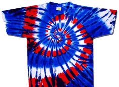 Red, White, Blue Tie Dye T-Shirt......perfect for school color day!