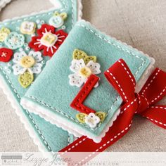Monogrammed Needle Book by Lizzie Jones for Papertrey Ink (February 2015)