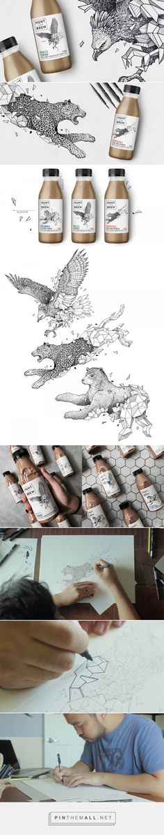 Hunt and Brew Cold Brew Coffee packaging design by Boxer & Co. - http://www.packagingoftheworld.com/2018/02/hunt-and-brew.html