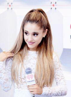 AG: Ariana at the iHeart Radio Music Festival.