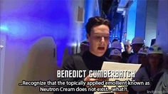 Sorry if this has been pinned today (let's be honest im not that sorry...everyone needs to see it) Cumberbatch Neutron Cream GIFSET