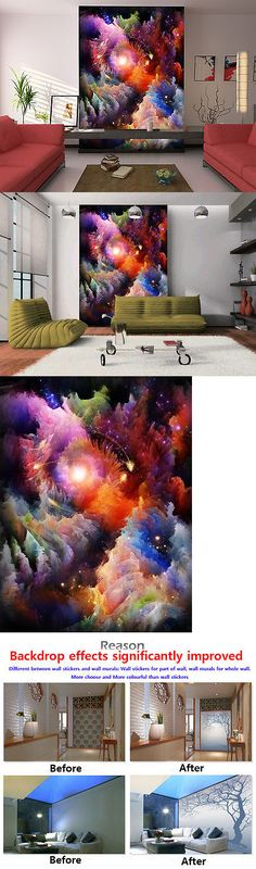 Other Wallpaper 52348: 3D Colored Clouds 511 Wall Paper Wall Print Decal Wall Deco Indoor Aj Wall Paper -> BUY IT NOW ONLY: $49.99 on eBay!