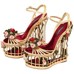 Very rare Dolce & Gabbana Runway Cage Heel Shoes Piece of Art! 1