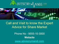 Welcome with Advisorymandi.com - It has been constantly ranked as one of the leading, biggest and the most reliable financial advisors marketplace in India. We follow the policy of less risk and more profit and provide the best result in terms of profit.