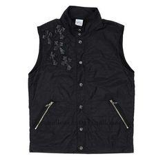 a83029dc17bd Men s Chrome Hearts Black Leather Cross Vest with Sword Zipper