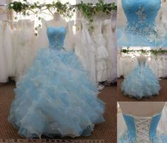 Alice in Wonderland inspired Quinceanera Dress