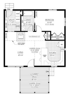 just add a carport at the back and this is my favorite 1 bedroom floor plan