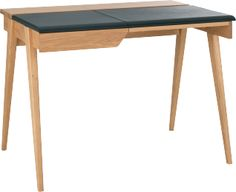Beckett Schreibtisch aus Eiche und Leder                                                                                                                                                                                 Mehr