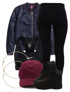 A fashion look from December 2015 by miizz-starburst featuring H&M, Helmut Lang, NIKE, Forever 21 and Timberland Cute Swag Outfits, Dope Outfits, Outfits For Teens, Casual Outfits, Teenager Outfits, College Outfits, Teen Fashion, Fashion Outfits, Swag Fashion