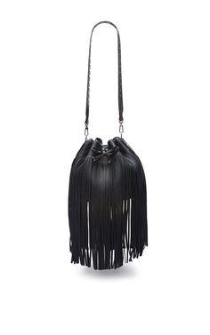 Leather Bucket Bag In Black - Bally Resort 2016 - Preorder now on Moda Operandi