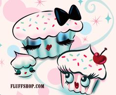 Enchanted cupcakes by Miss Fluff #cupcakes #kawaii