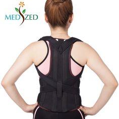 b5e5360926 MEDIZED Adjustable Posture Corrector Back Support Shoulder Back Waist  Support Brace Belt for Men and Women
