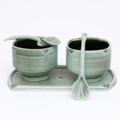 Marlene Jack Ceramic Cups and spoons