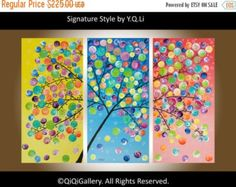 ART PAINTING Original Large Abstract painting by QiQiGallery