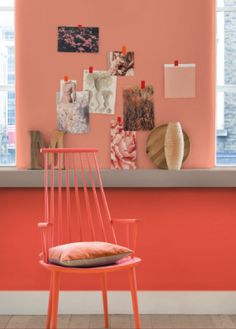 Salmon color - trends in interior colors Interior Flat, Copper Interior, Interior Rugs, Interior Design Living Room, Interior Design Colleges, Decorating Blogs, Apartment Living, Home Decor Inspiration, Colorful Interiors