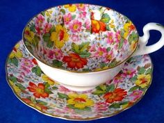 Radfords Vintage Chintz Bone China Cup And Saucer