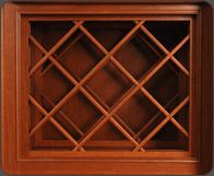 Wine Rack Lattice can be assembled for any size wine rack. Blend a custom wine rack into your kitchen cabinetry layout and show off your wine collection!